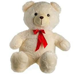 Medvěd plyš 100cm smašlí béžový 0+