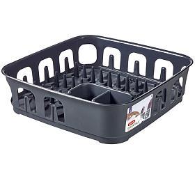 Odkapávač na nádobí Essemtial čtverec antracit CURVER