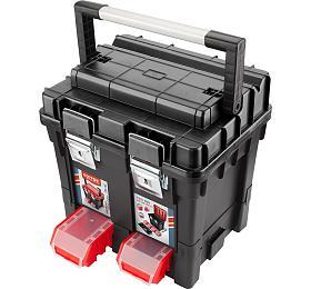 Kufr nanářadí HD, 450x350x450mm, ALrukojeť, kov.přezky
