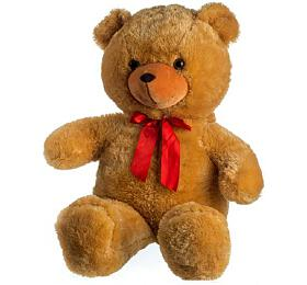 Medvěd plyš 100cm smašlí světle hnědý hladký 0+