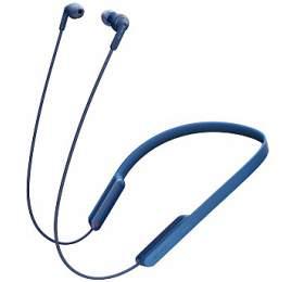 Sony MDRXB70BT, bezdrátová Bluetooth sluchátka za krk, NFC, modrá