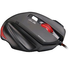 C-Tech Akantha / optická / 6 tlačítek / 2400dpi - černá/červená