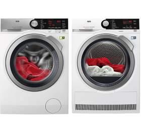 SET Pračka AEG ÖKOMix® L8FEC49SC + Sušička prádla AEG AbsoluteCare® T8DBE68SC