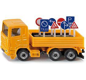 SIKU Blister -Nákladní vozidlo sdopravními značkami