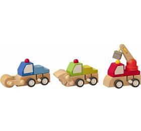 Natahovací autíčko -stavební stroje WOODY