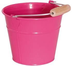Kbelík -oranžový/růžový, kov WOODY