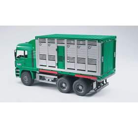Užitkové vozy - MAN TGA auto na přepravu dobytka + 1 kráva 1:16 - ARCH. BRUDER