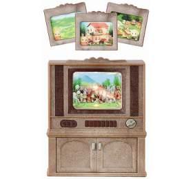 Nábytek -skříňka sbarevnou televizí Sylvanian family