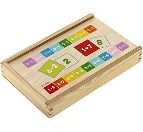 Woody Puzzle výukové Kartičky s počty 81ks