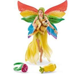Duhová elfí víla Meena s létající veverkou SCHLEICH
