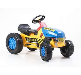 G21 Šlapací traktor Classic žluto/modrý