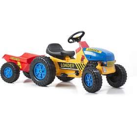 G21 Šlapací traktor Classic s vlečkou žluto/modrý