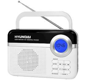 Hyundai PR 471 PLL SU WS, digitální FM tuner, USB a mikro SD vstup, bílý