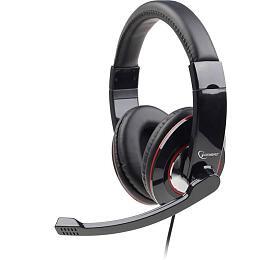 Sluchátka smik Gembird MHS-U-001 Gaming black, USB