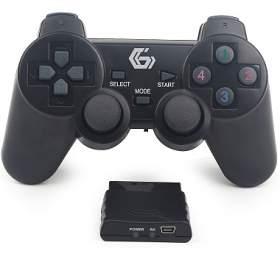 Joy Gamepad GEMBIRD JPD-WDV-01, vibrační, bezdrátový, PC/PS2/PS3, USB