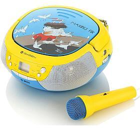 GoGEN MAXIPREHRAVAC Bs CD/MP3/USB, modrá/žlutá