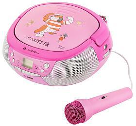 GoGEN MAXIPREHRAVAC Ps CD/MP3/USB, růžová/purpurová