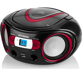 Hyundai TRC 533 AU3BR sCD/MP3/USB, černá/červená