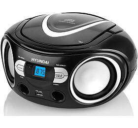 Hyundai TRC 533 AU3BS sCD/MP3/USB, černá/stříbrná