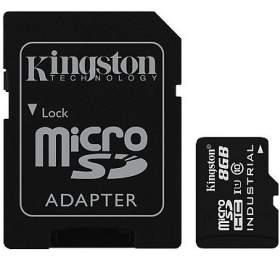 KINGSTON 8GB microSDHC /UHS-I Industrial Temp /U1 /vč. adaptéru