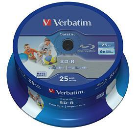 VERBATIM BD-R SL(25-Pack)Spindl/6x/25GB/Printable