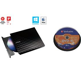 ASUS DRW-08D2S-U BLACK+ Verb. DVD-R 10cake