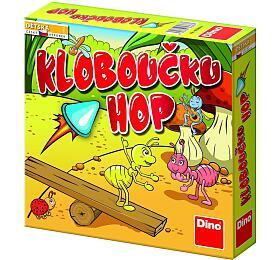 Společenská hra Kloboučku hop! Dino vkrabici 23x23x5cm