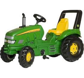 Šlapací traktor X-Trac John Deere - zelený ROLLYTOYS