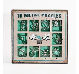 Albi Sada 10hlavolamů kov zelená