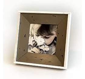 Hnědý lemovaný fotorámeček