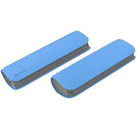 OMEGA POWERBANK 2600mAh 1xUSB 1A, kožená, modrá