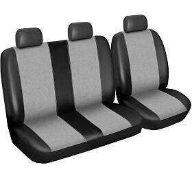 Autopotahy Volkswagen LT, 3místný, dor. 2006, Eco kůže +alcantara šedé SIXTOL