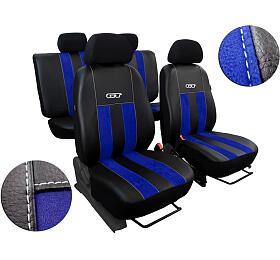 Autopotahy Volkswagen VWCrafter,3 místa, stolek, GTkožené salcantarou, modré SIXTOL