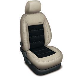 Autopotahy Volkswagen GOLF V PLUS, AUTHENTIC LEATHER, béžovočerné SIXTOL