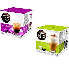 SET: NESCAFÉ Espresso 16 ks k Dolce Gusto + NESCAFÉ Cappuccino 16 ks k Dolce Gusto