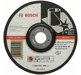 Hrubovací kotouč profilovaný Expert for Inox -AS 30S INOX BF, 150 mm, 6,0 mm- 316514052 BOSCH