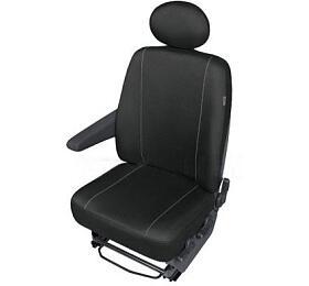 Autopotahy SOLID DVdodávka –1 sedadlo, černé SIXTOL