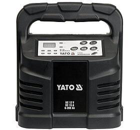 Elektronická nabíječka, 15A, 12V, gel/procesor, YATO