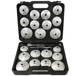 Násadkové klíče na filtry, 23ks GEKO