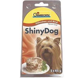Gimborn Shiny dog konz. -kuře, hovězí 2x 85g