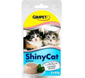 Gimpet Shiny cat konz. Junior - kuře 2 x 70 g