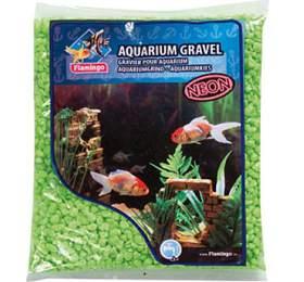 Písek akvarijní Neon zelený Flamingo 1kg, 4-7 mm