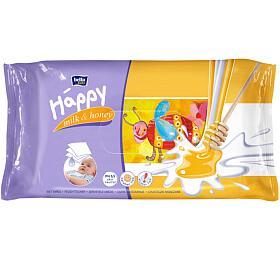 Vlhčené ubrousky Happy Mléko & Med Bella