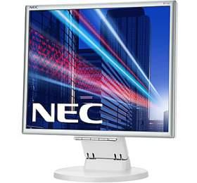 """NEC 17"""" E171M -1280x1024, TN, W-LED, 250cd, D-sub, DVI, Repro, stříbrno-bílý"""