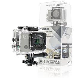 König CSACWG100 - Akční Full HD kamera 1080p Wi-Fi / GPS, černá