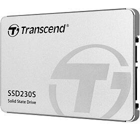 TRANSCEND SSD230S 256GB SSD disk 2.5'' SATA III 6Gb/s, 3DTLC, Aluminium casing, 560MB/s R,500MB/s W,stříbrný