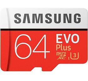 Samsung micro SDXC 64GB EVO Plus +SD adaptér