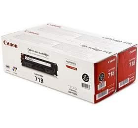 Canon CRG-718Bk, 2x 3400 stran originální -černý