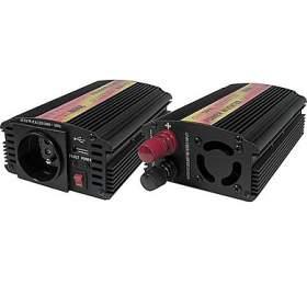 CARSPA Síťový měnič napětí z12V DCna 230V AC300W +USB 500mA