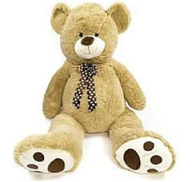 Medvěd smašlí plyš 130cm béžový vsáčku 0+